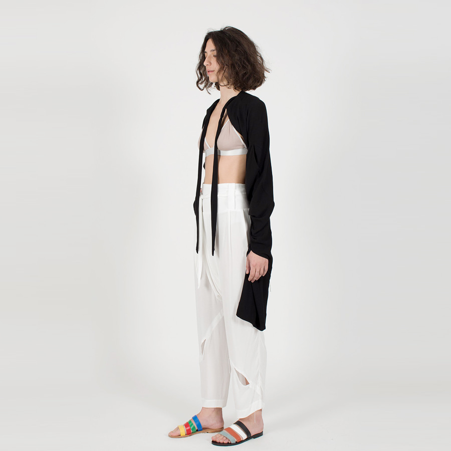 [clon8] Slash Multiway Trousers & Cardigan