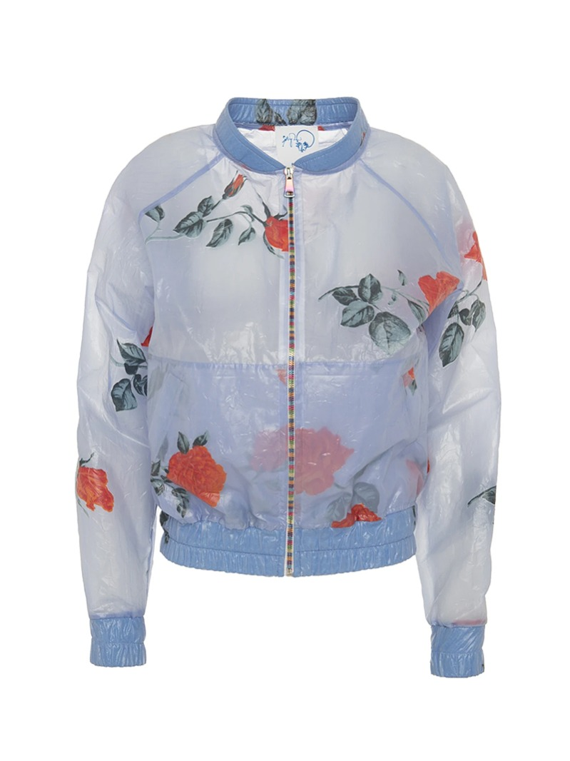 [Boo Pala] Rose Raincoat Bomber Jacket