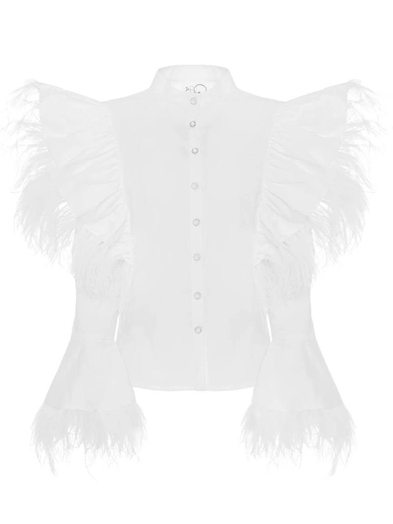 [Boo Pala] Emi Feathers Shirt